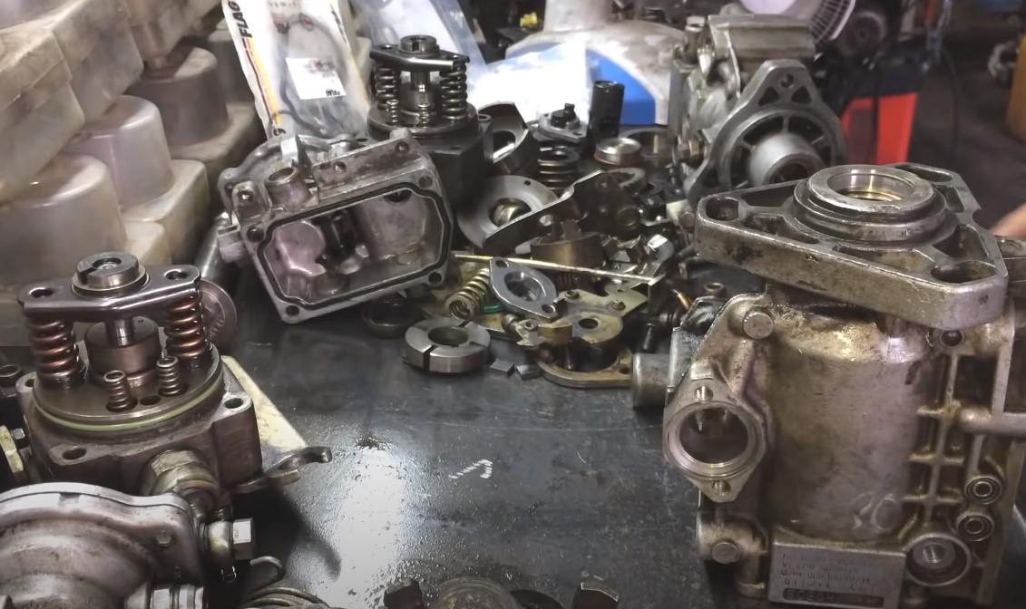 Ремонт топливного насоса высокого давления дизельного двигателя